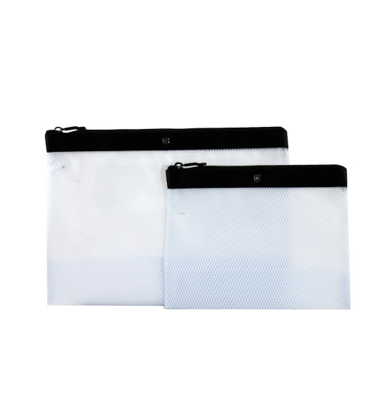 Set of Two Spill-Resistant Pouches