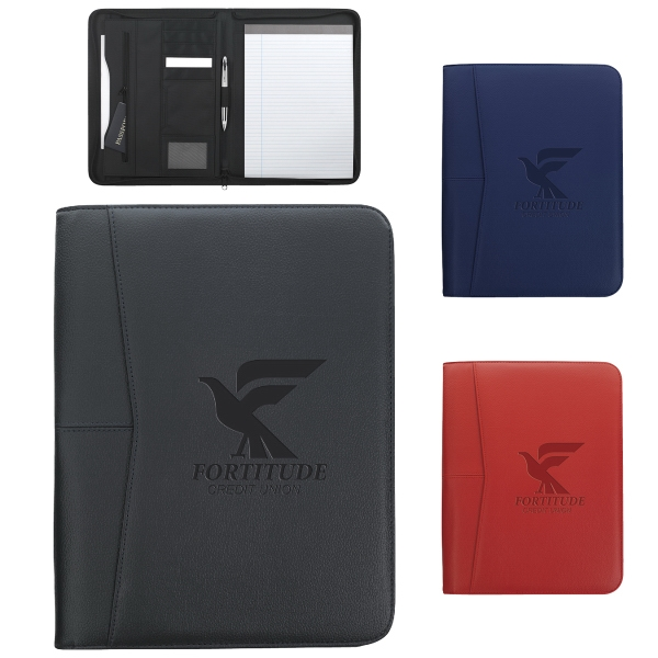 Arrow Zippered Padfolio