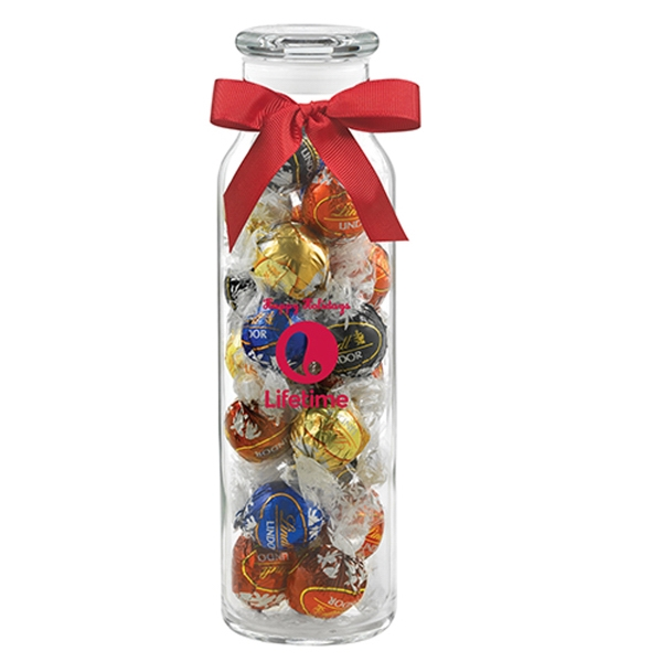 Glass Hydration Jar with Lindt (R) Truffles