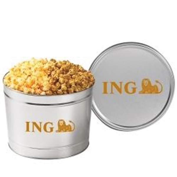 2 Way Popcorn Tin / 1.5 Gallon