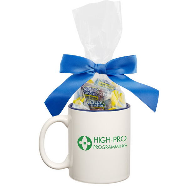 Two Tone Ceramic Mug Stuffer with Jolly Ranchers