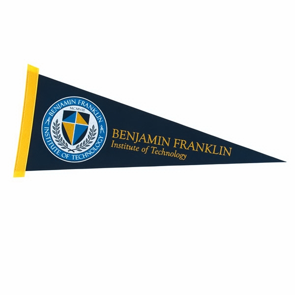 "Colored Felt 9"" x 24"" Pennant with Felt Strip"