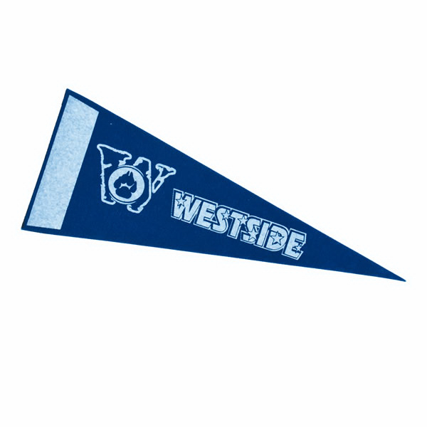 "Colored Felt 12"" x 30"" Pennant with Felt Strip"