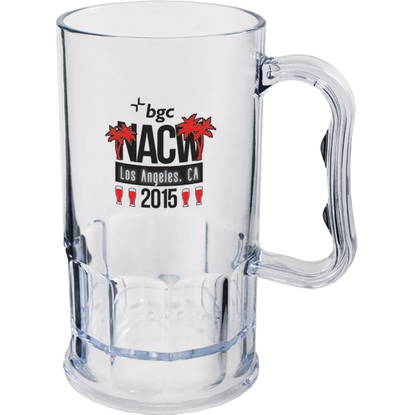 11 oz. Clear Plastic Mug w/Handle