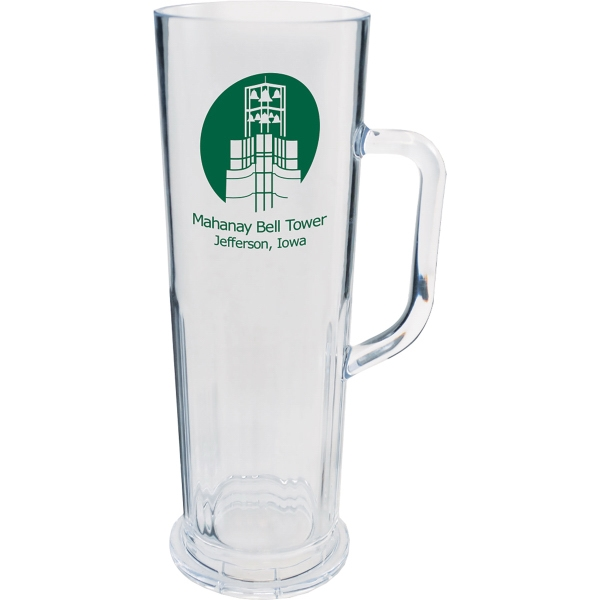 22 oz. Clear Plastic Frankfurt Mug w/Handle