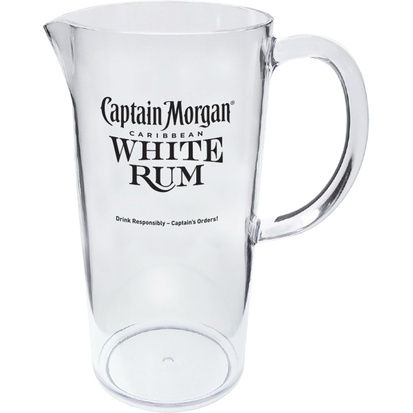 40 oz. Clear Styrene Plastic Pitcher with Handle