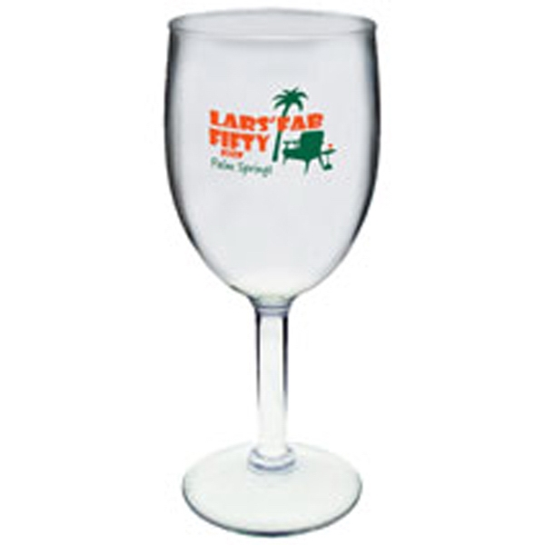 8 oz. Clear Plastic Wine Glass