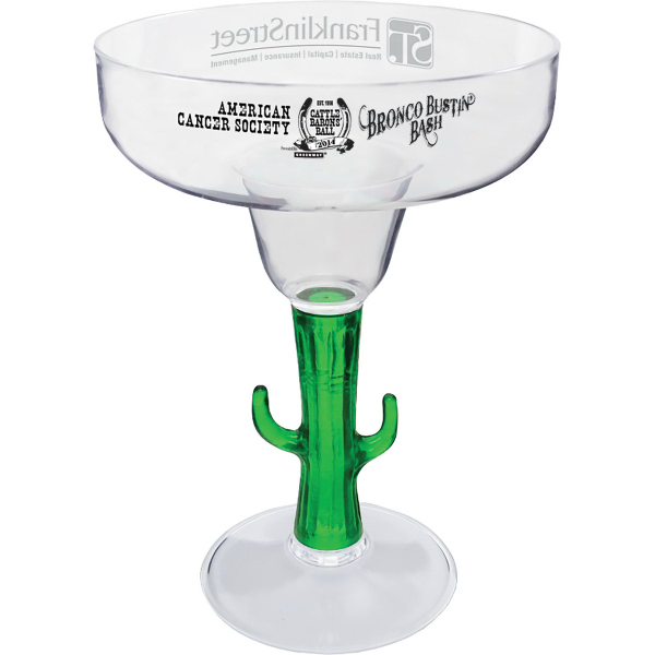 12 oz. Novelty Stem Margarita Glass