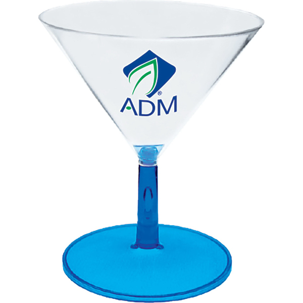 3 oz. Plastic Stemmed Martini Sampler Glass