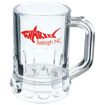 1.25 oz. Clear Plastic Mini Mug Shot Glass