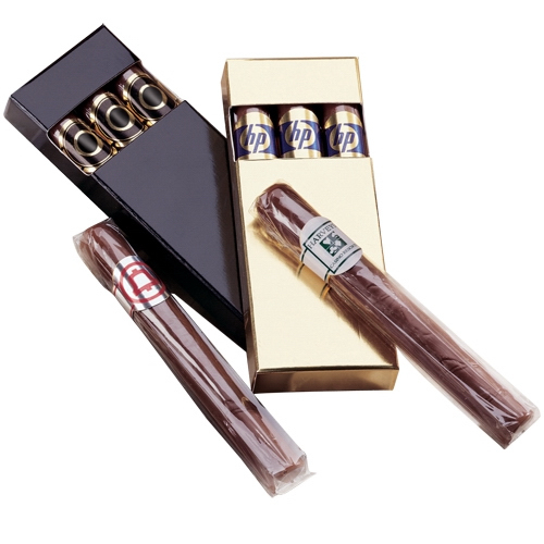 Foil Wrapped Chocolate Cigars In Gift Box