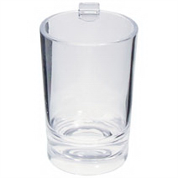 2 oz. Clear Plastic Hook Shooter Shot Glass