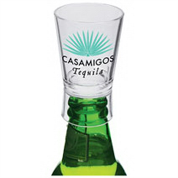 1.25 oz. Clear Plastic Bottle Top Shot Glass