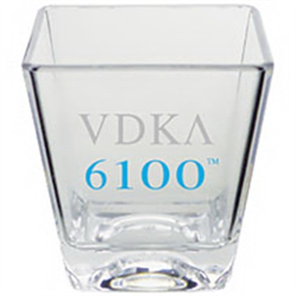 2 oz. Clear Heavy Plastic Square Shot Glass