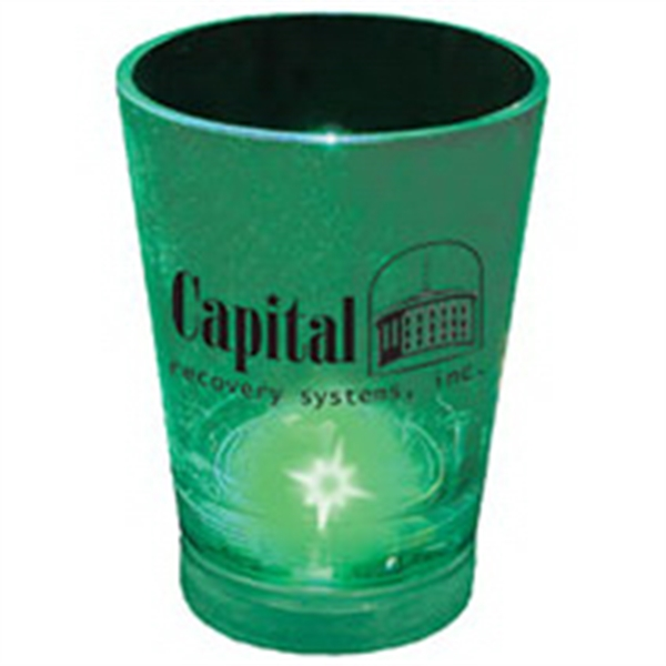 1.25 oz. Blinking Plastic Shot Glass