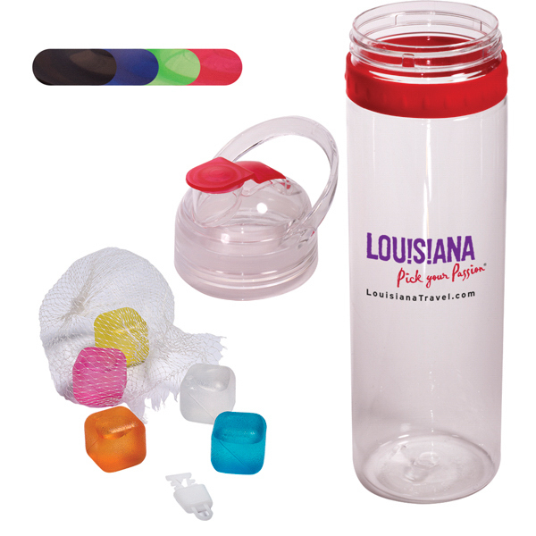 Tritan(TM) Traveler Water Bottle and Ice Cubes Set