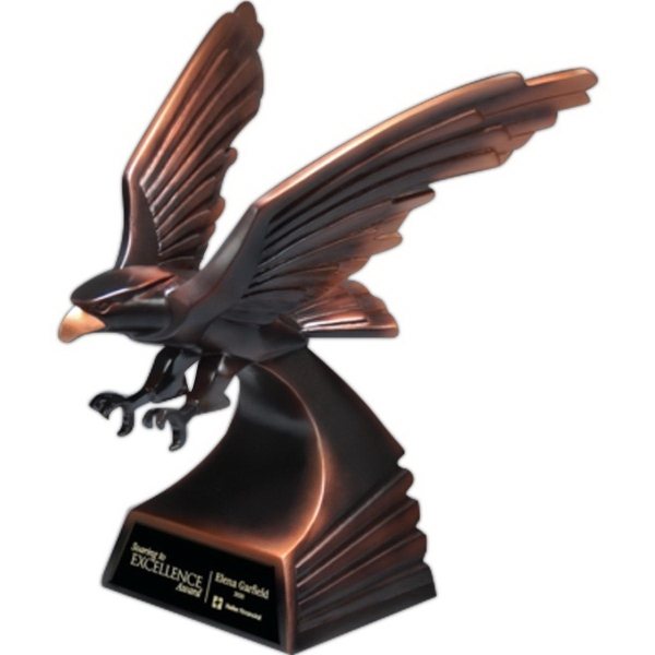 Modern Bronze Finish Eagle in Flight Award - Medium