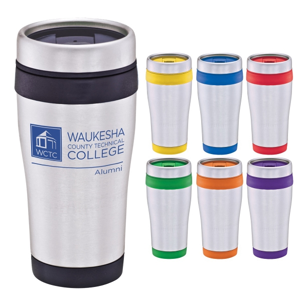16oz Stainless Tumbler w/Color Band