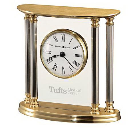 New Orleans solid brass table clock