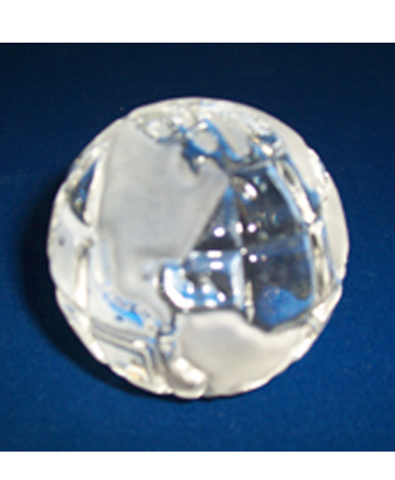 "2 1/2"" Clear Glass Globe"