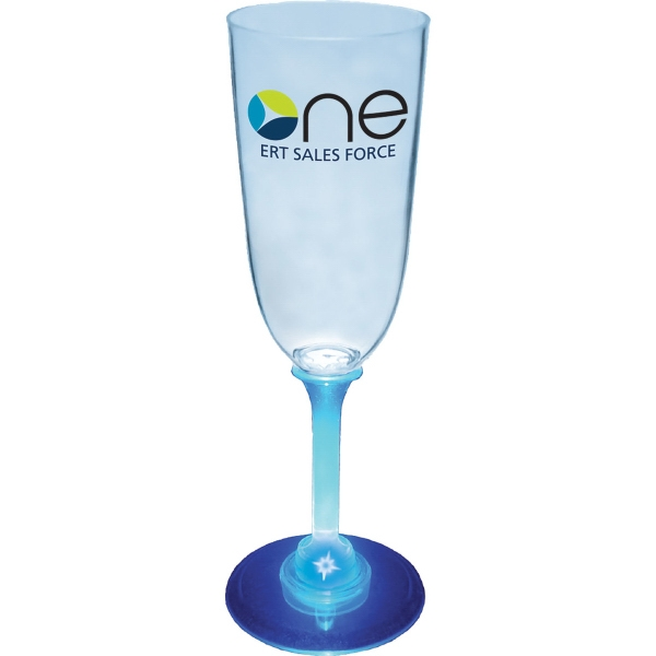 7 oz Plastic Light-Up Champagne Glass
