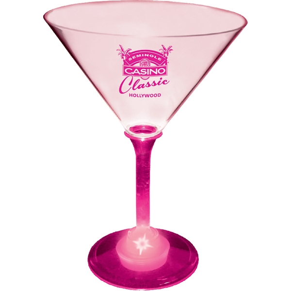 10 oz. Acrylic Light-Up Martini Glass
