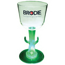 7 oz. Acrylic Light-Up Novelty Base Wine Glass