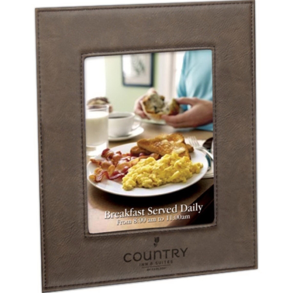 """Leatherette Lasered Frame for 5"""" x 7"""" Photo"""