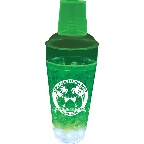 20 oz. Plastic 5 Light, Light-Up Cocktail Shaker