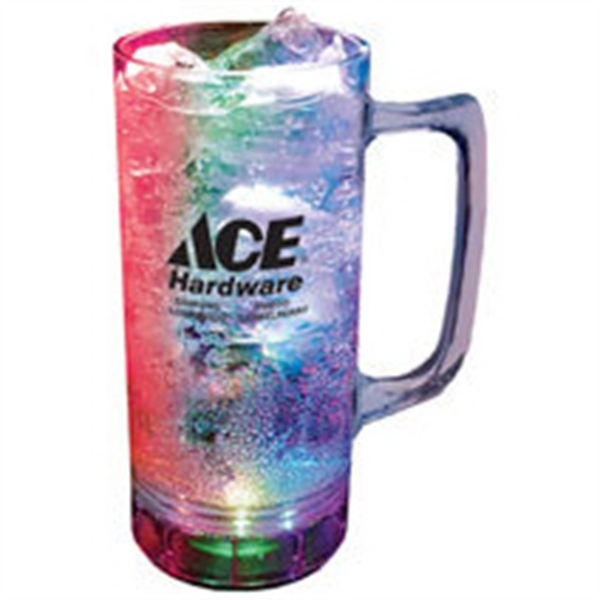 12 oz. Plastic 3 Light, Lighted Mug w/Handle