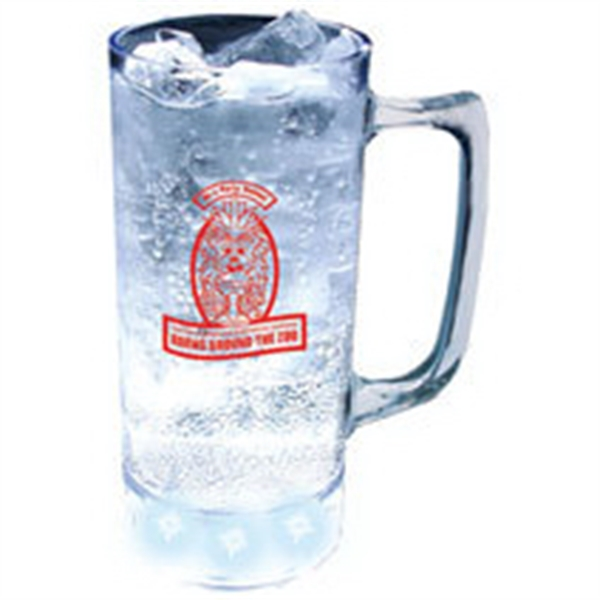 12 oz. Plastic 5 Light, Light-Up Mug w/Handle