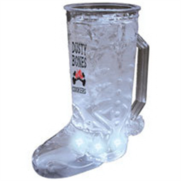 20 oz. Plastic 5 Light, Light-Up Cowboy Boot Mug