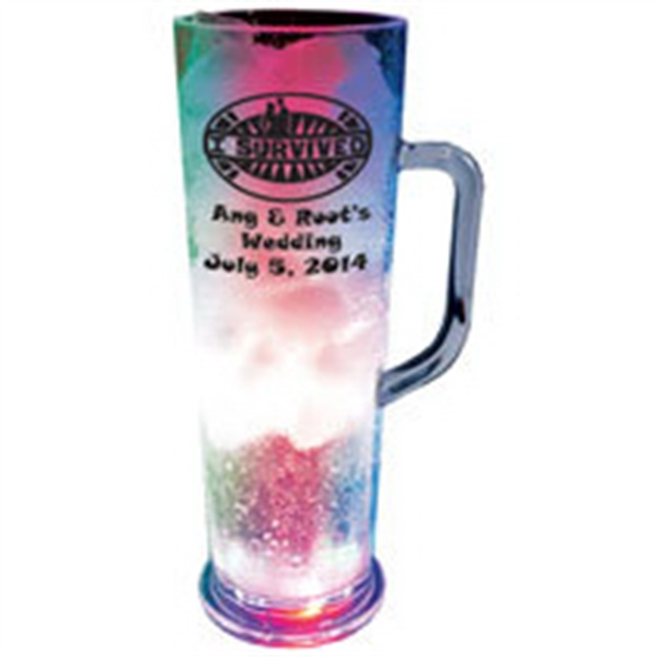 22 oz. Plastic 3 Light, Light-Up Frankfurt Mug