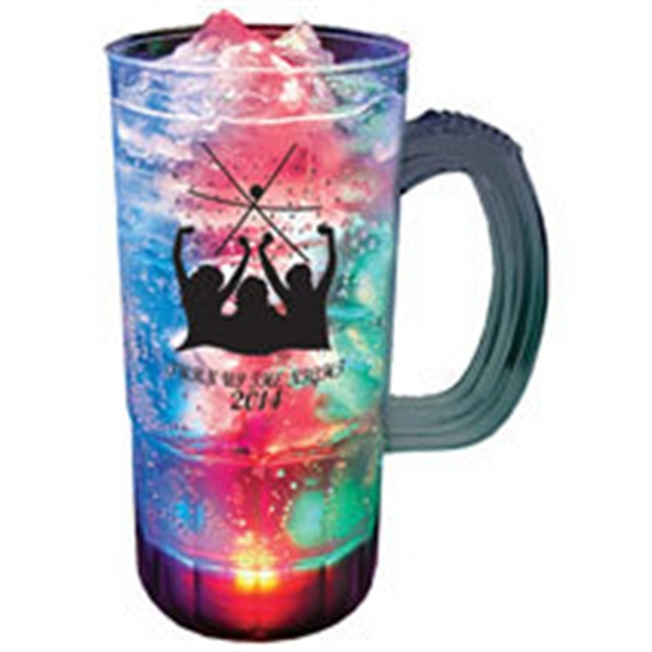 22 oz. Plastic 3 Light, Light-Up Mug w/Handle