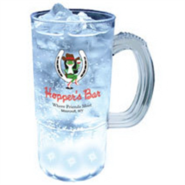 22 oz. Plastic 5 Light, Light-Up Mug w/Handle