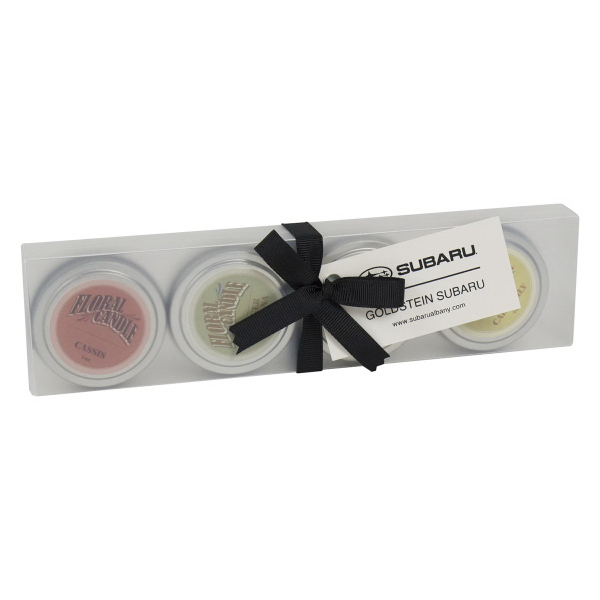1 oz Relaxation Candle Set with Ribbon and Hangtag