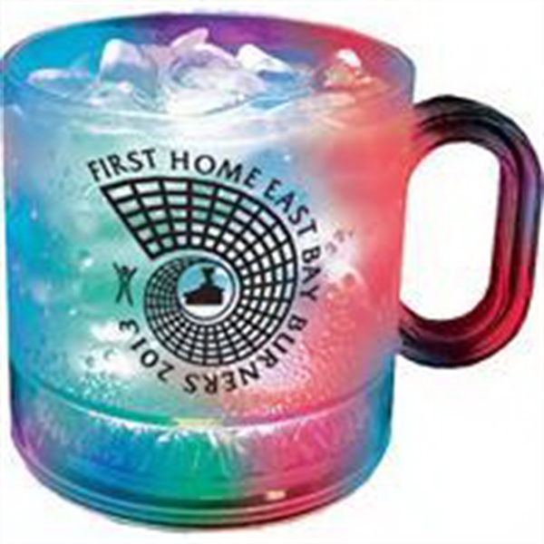 12 oz. Plastic 3 Light, Light-Up Coffee Mug
