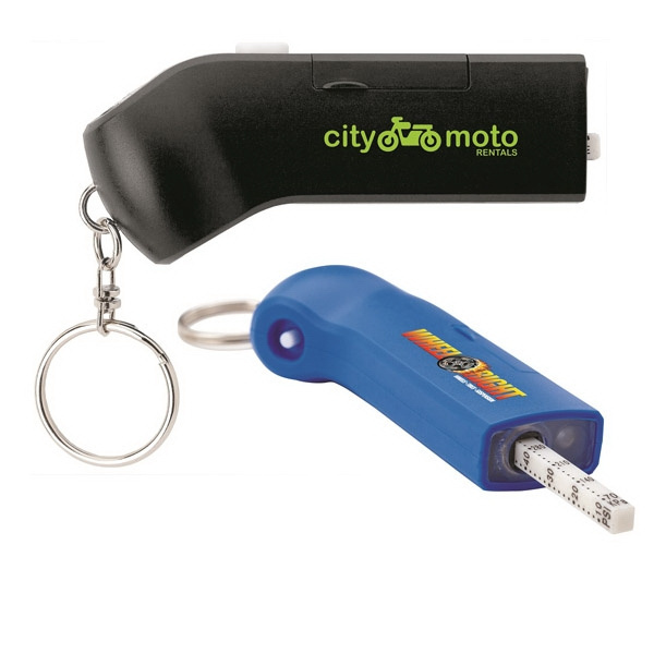 Tire Pressure Gauge & LED Keyring