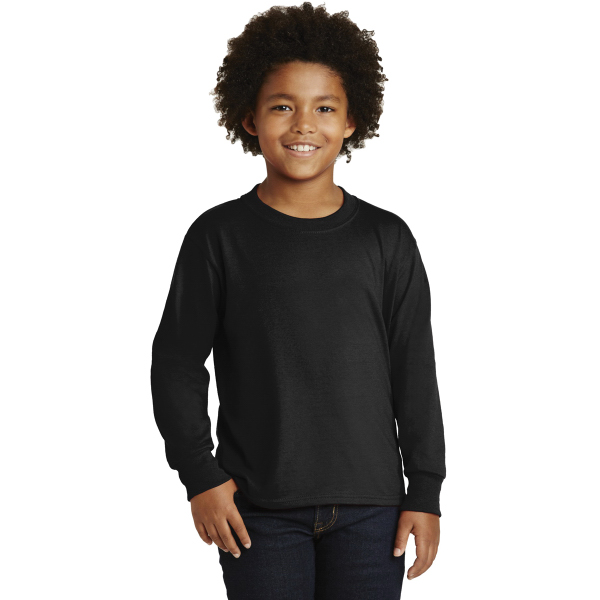 JERZEES Youth Dri-Power  50/50 Cotton/Poly Long Sleeve T-Shi