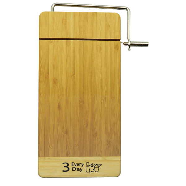 2 Tone Extra thick Bamboo Cutting Board w/ Cheese Cutter