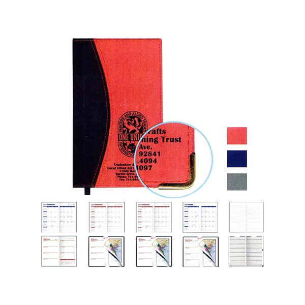 "Style ""Ascot"" 2-Tone Soft Vinyl Cover Pocket Planner"