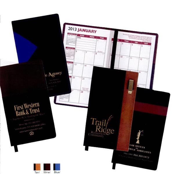 "Styles ""Lafayette"" 2-Tone Soft Vinyl Cover Pocket Planners"