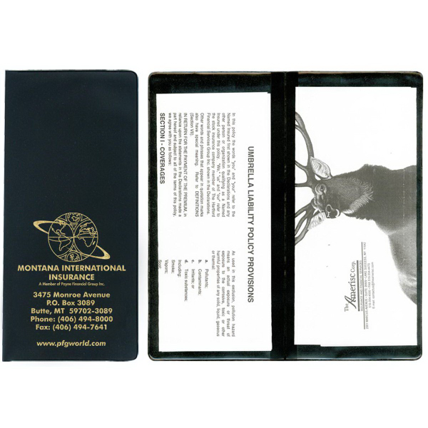 Policy and Document Holders - 2 Full Pockets