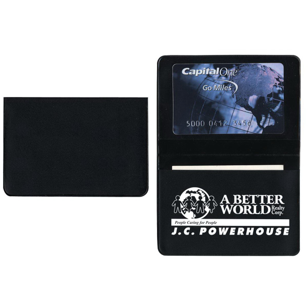 Foldover Card Case with 1 Clear Pocket