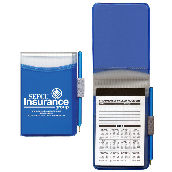Hard Cover Memo Book with 30-Page Pad & Matching Pen
