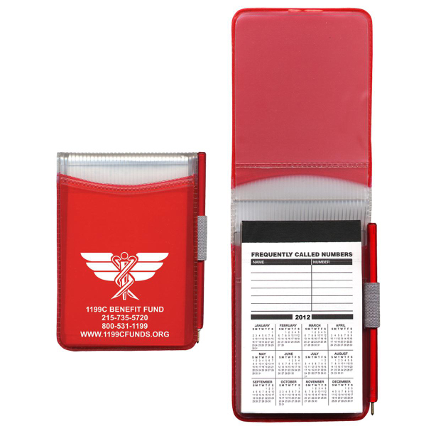 Hard Cover Memo Book with 100-Page Pad & Matching Pen