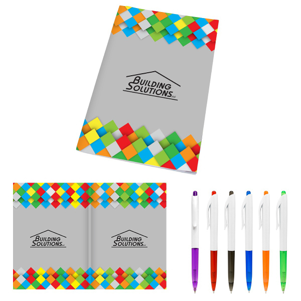 5 x 7 Perfect Paper Cover Notebook with Pen