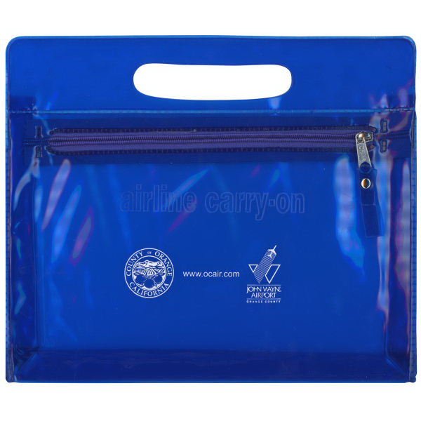 "Translucent Airline Pouch with ""Airline Carry-On"" Message"