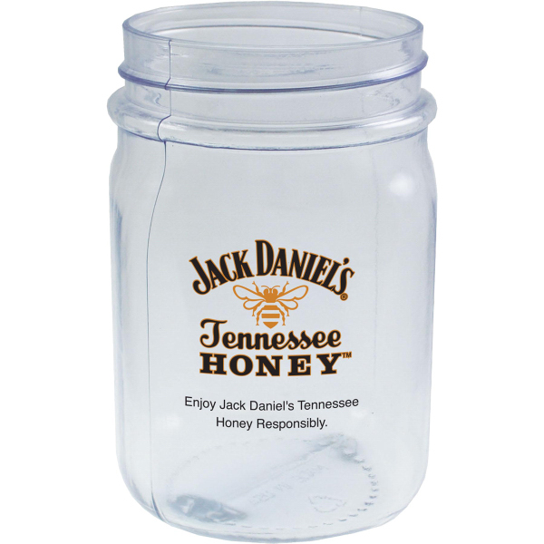 16 oz. Blow-Molded PVC Plastic Mason Jar Mug
