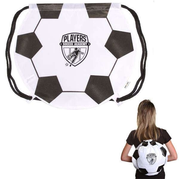 GameTime! (R) Soccer Ball Drawstring Backpack